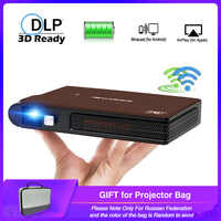 Caiwei S6W Tragbare Tasche Mini 3D DLP Projektor LED Home Cinema Unterstützung HD Video WIFI Mobile Beamer Für Smartphone Projektoren
