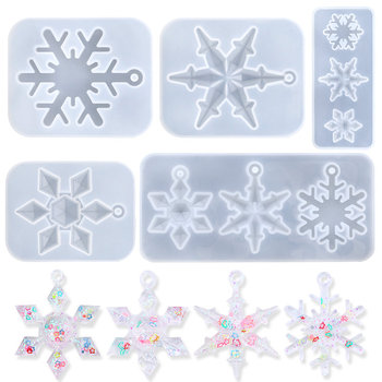 Snowflake Epoxy Resin Mould Casting Tools Silicone Snowflake Mold Handmade Jewelry making Tools DIY Crafts Epoxy Resin Molds jewelry saw frame adjustable jeweler making diy tools blade handmade crafts arc jewelry tool