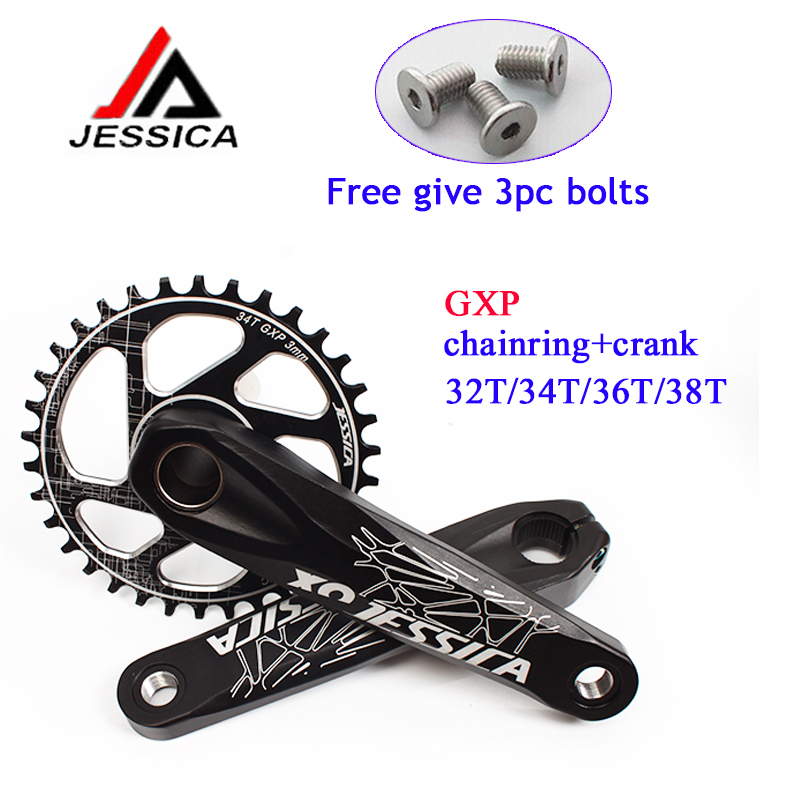 104bcd 32//34//36//38T 170mm Crank MTB Bike Crankset BB Narrow Wide Chainring