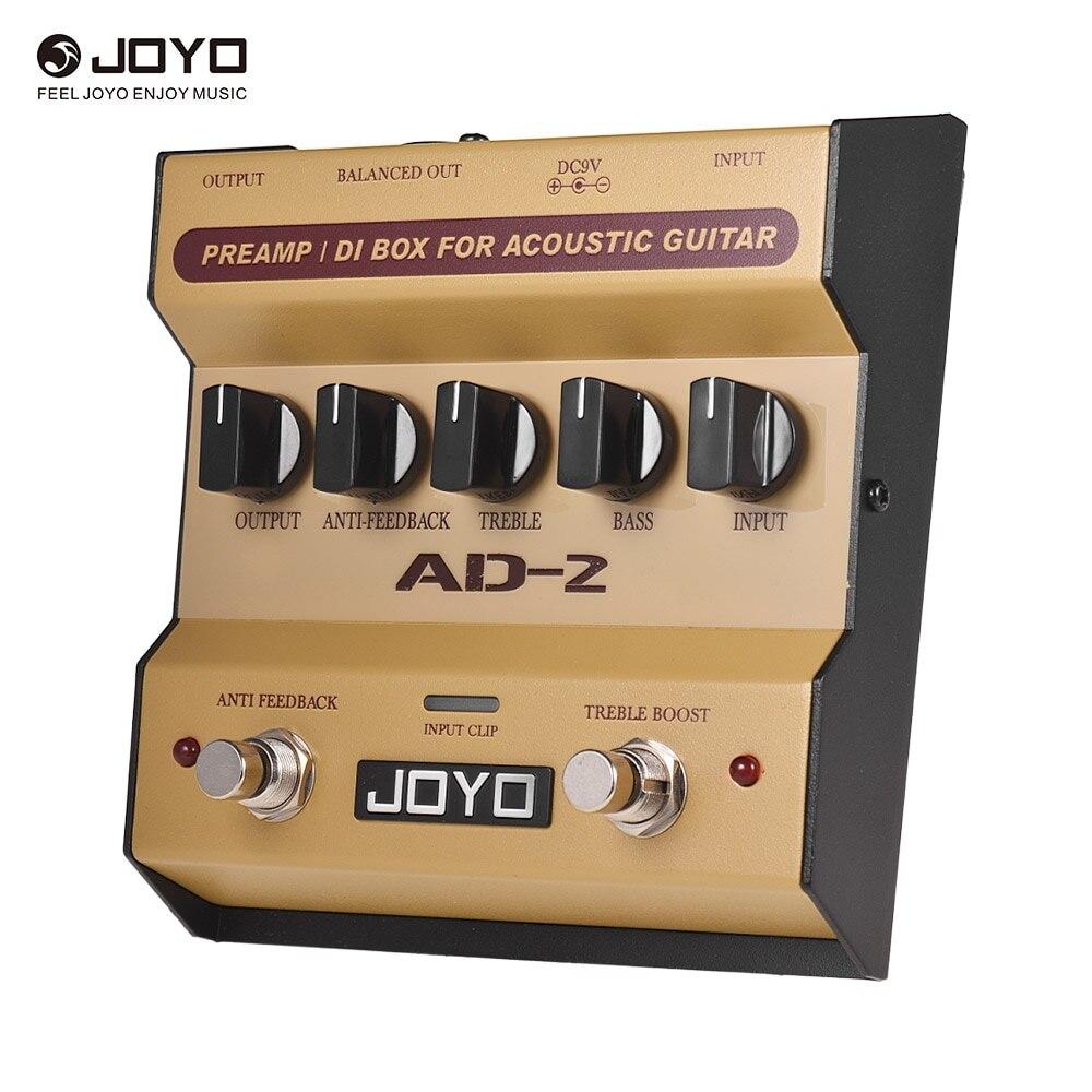JOYO AD-2 préampli Portable DI Box pédale effet guitare acoustique Balance 2 bandes avec 5 boutons de réglage de base de réglage des pièces de guitare