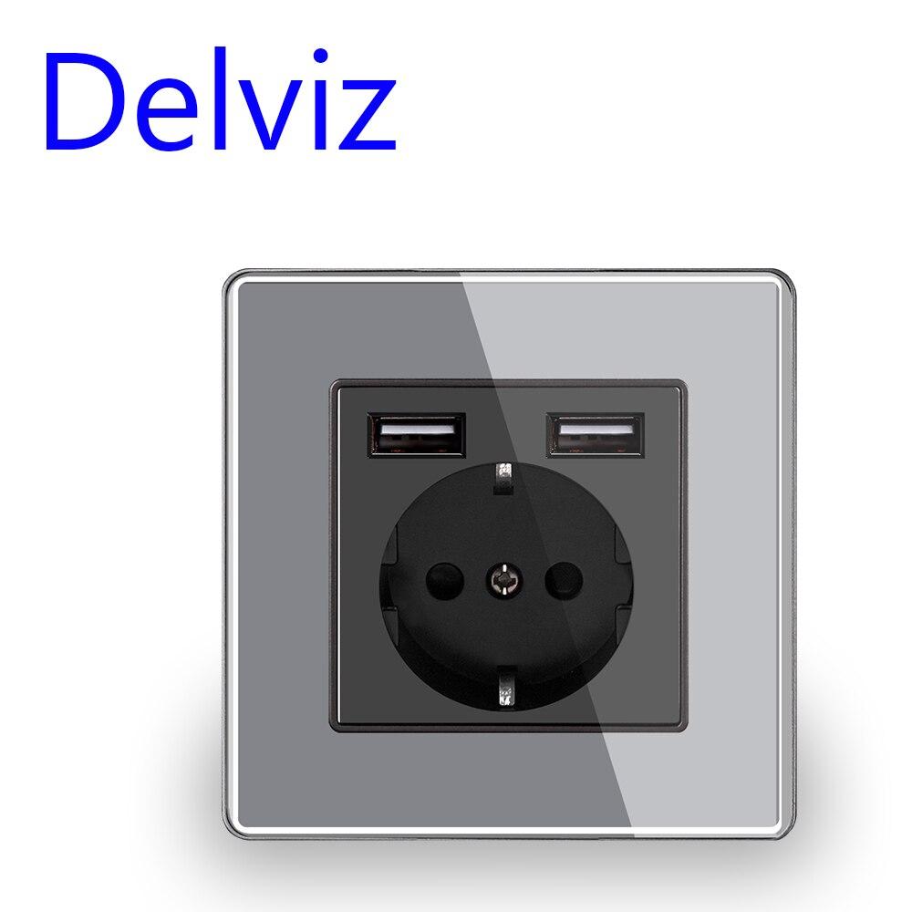 שקע חשמל+USB 4