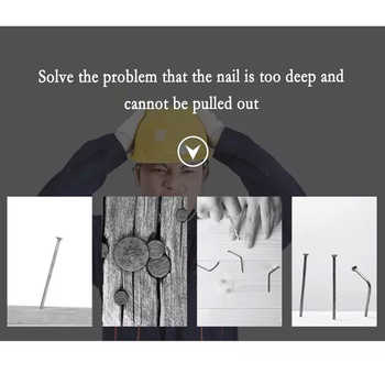 WORKBRO Professional Nail Puller, Dedicated To Pull Out Headless Nails And Deep Nails. Hand Tools, Woodworking Tools