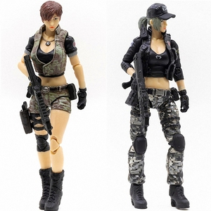 Image 1 - JOYTOY 1/18 action figure women soldier in game Cross Fire(CF) anime female figures Free shipping