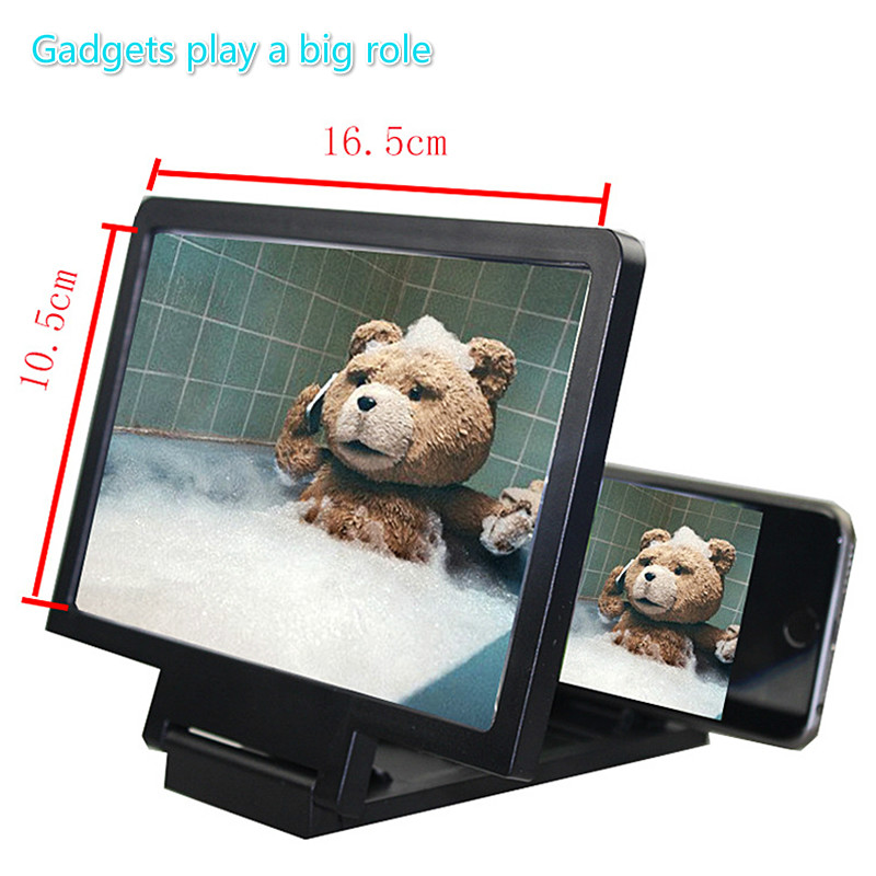 Dropship 3D Screen Amplifier Mobile Phone Magnifying HD Stand For Video Folding Screen Enlarged Eyes Protection Phone Holder