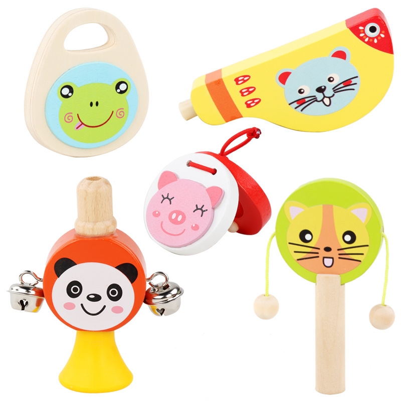 Baby Musical Instrument Set Whistle Rattle Wave Drum Early Education Kindergarten Cross-border Explosion Birthday Gift