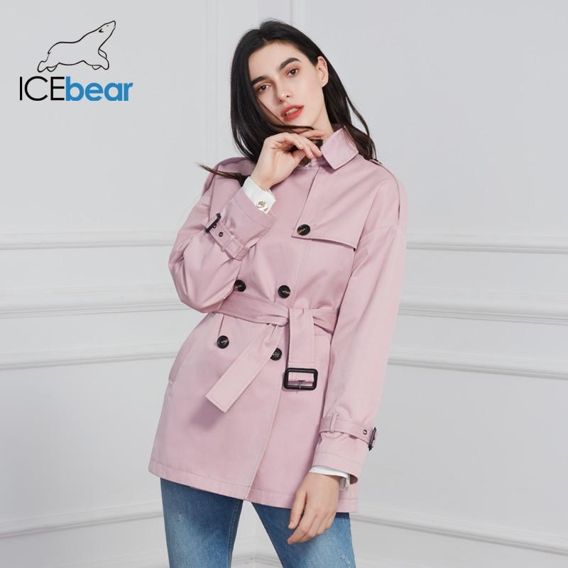 ICEbear 2020 Women's Spring Windbreaker Stylish Casual Female Lapel Trench Coat Quality Brand Women Clothing GWF20027D