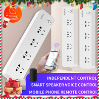 Broadlink MP1 WiFi Socket Smart Home Automation 4-Outlet Plug 3G 4G Wireless APP Android iOS Remote Control Separately 250V 10A