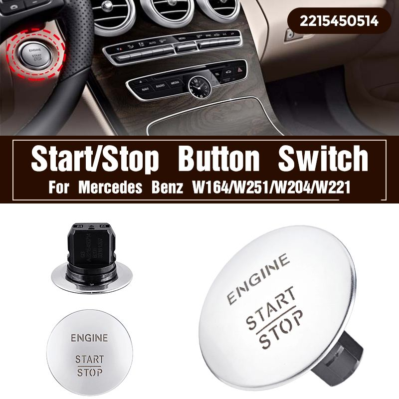 Кнопочный переключатель двигателя lgnition Start Stop для Mercedes для Benz W164 W251 W204 205 W221 кнопочный Пуск 2215450714