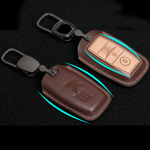 Lsrtw2017 Genuine Leather Car Key Bag Styling for Kia K3 Cerato Interior Mouldings Accessories