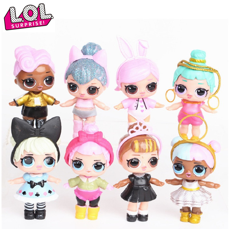 Brand New <font><b>8</b></font> Pcs/set lol <font><b>dolls</b></font> toys for girls surprise gift baby <font><b>doll</b></font> girls toys <font><b>doll</b></font> lol surprises kids birthday gift image