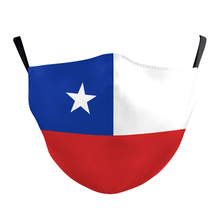 Protective Masks Chile CL Country Flag Mask Adult Child Mouth Face Mask Washable Reusable Muffle Mask Filters Pritned Mask