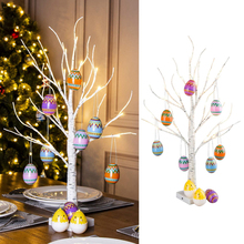 60cm Easter Led Birch Tree Light Easter Eggs decor Hanging Ornaments artificial Twig