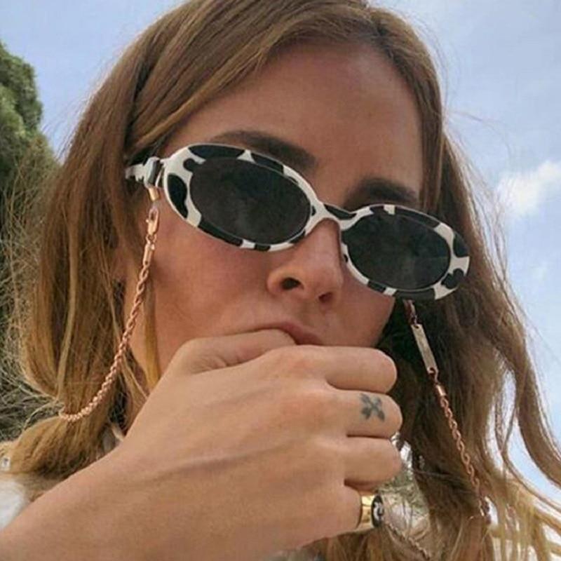 2020 Retro Fashion Oval Sunglasses Women Frame Vintage Brand Designer Sunglasses Female Shades Drop Shipping