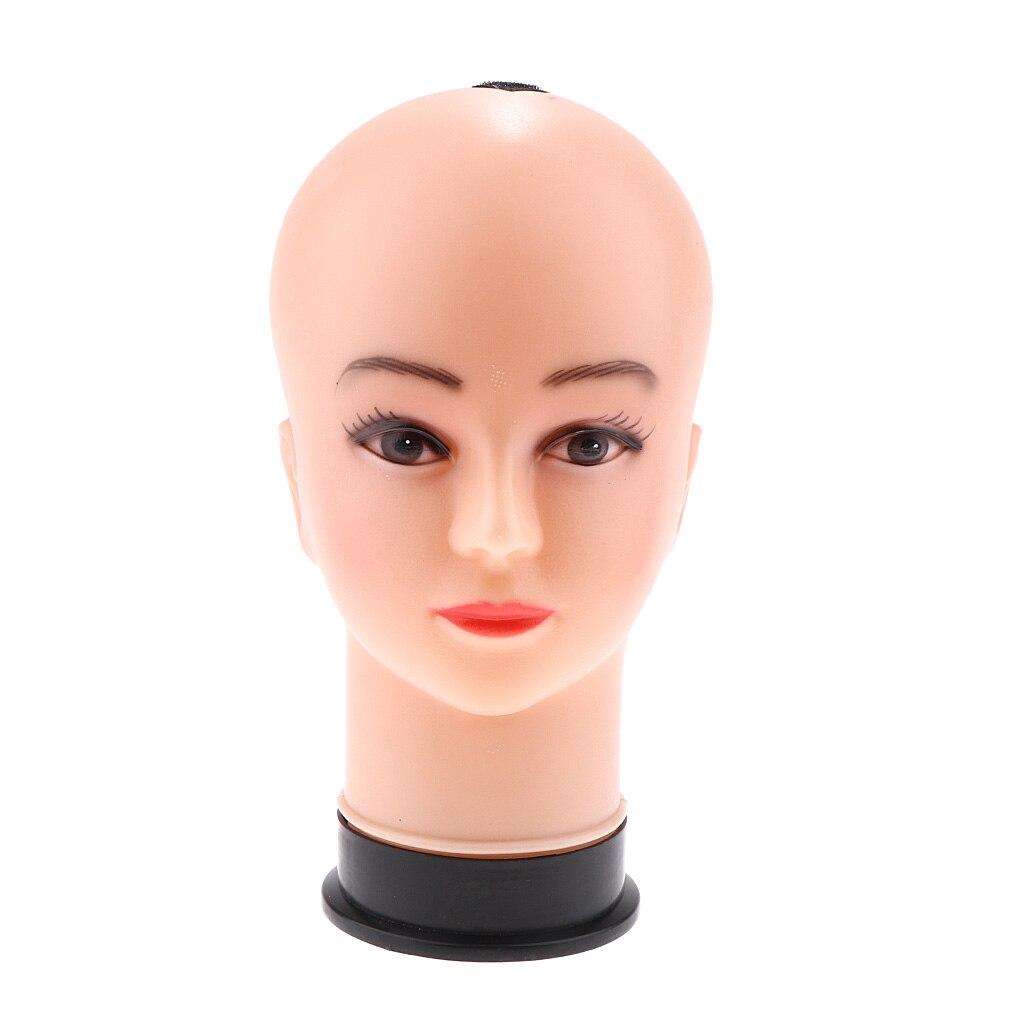 Cabeça de manequim de cosmetologia cabeça de manequim para chapéu de praia/boina/chapéu de balde/boné de beisebol