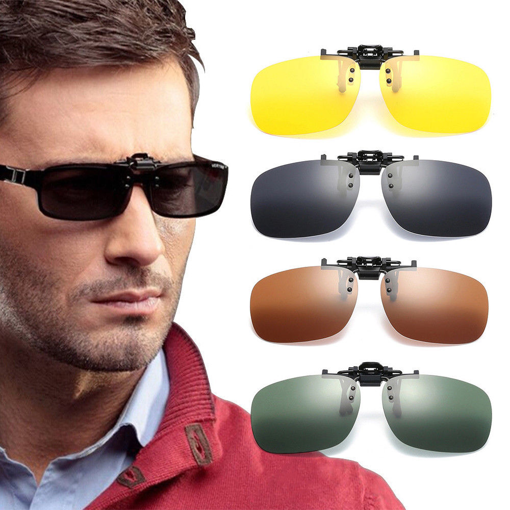 Car Driver Goggles Anti-UVA UV400 Polarized Sun Glasses Driving Night Vision Lens Clip On Sunglasses Interior Accessories