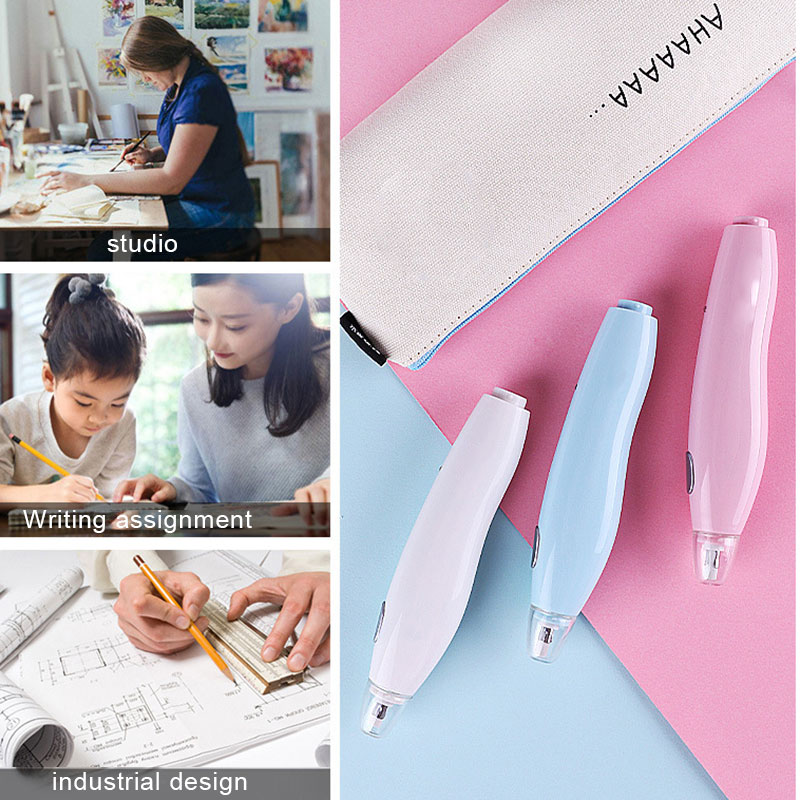 2021 Electric Erasers Kit for Artists Art Pencils Drawing Sketching Drafting Detailer Tool for Crafting with 16 refills