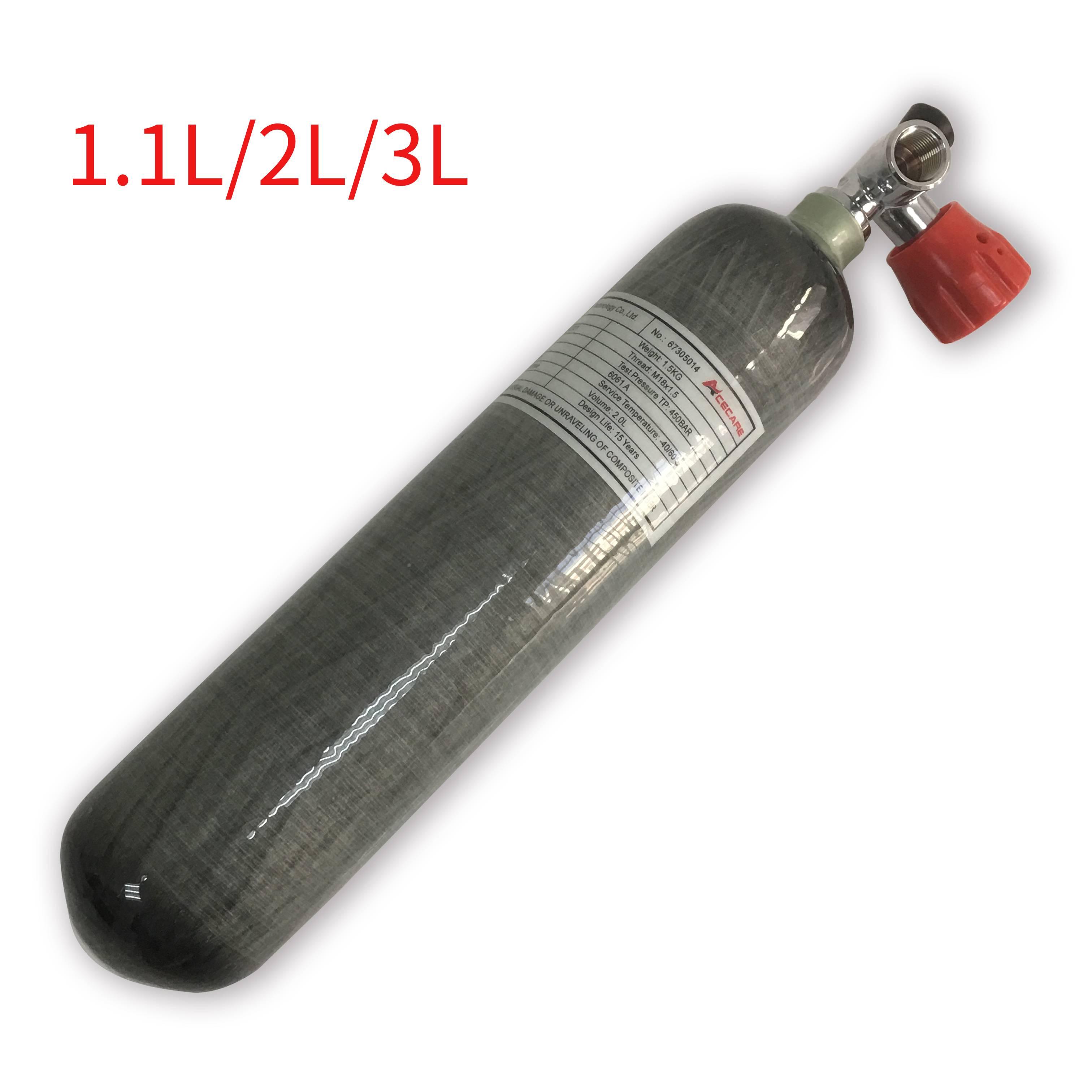 AC10211 Pcp Air fusil réservoir de plongée 1.1L/2L3L 4500 Psi haute pression cylindre Airforce Condor CE en Fiber de carbone réservoir d'air Station-service