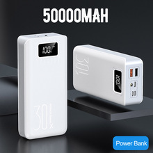 Power Bank High Capacity 50000mah External Battery  3 USB LED Powerbank Type-c Portable Mobile charger for iphone 6G\6S\7G\8G 50000mah large capacity mini portable power bank lightweight dual usb battery charger power backup with led light for phone