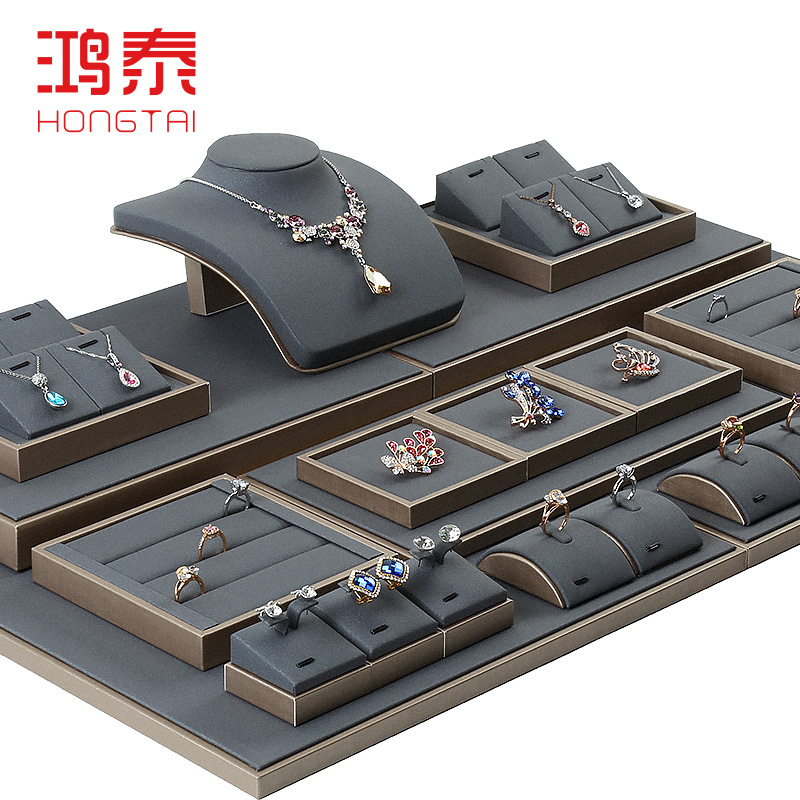 The New Jewelery Display Of Props Tray Gold Ring K Gold Necklace Display Stand Bracelet Pendant Customized Care Polyurethane