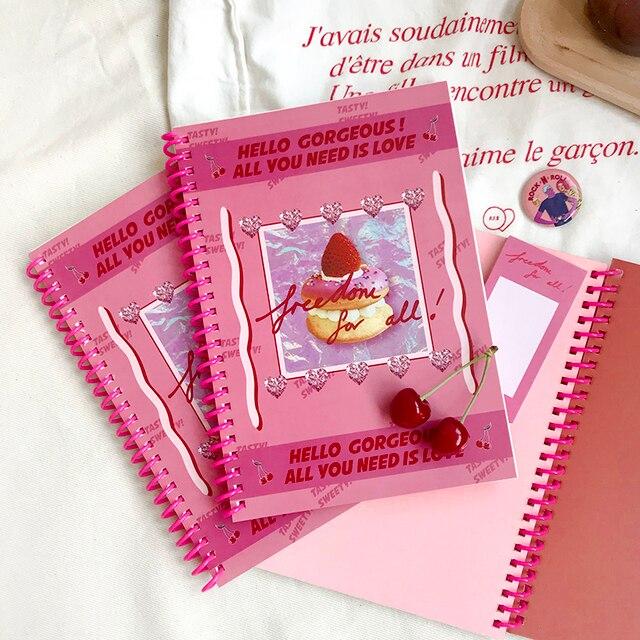 SIXONE INS Deliziosa Torta A5 Coil Libro Colore In Bianco Notebook Corea Cute Girl Sketchbook Manuale Diario