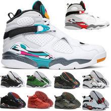 Chaussures de sport rétro pour hommes, baskets pour la saint-valentin, couleurs blanc, Chrome, noir, rouge, 8S