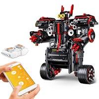 791PCS 2.4G APP Control RC Robot RC Educational Bricks DIY Assembly Balanced Programming Robot RC Toys Gifts for Kids