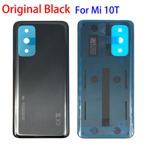 Image 2 - 100% 오리지널 신제품 Xiaomi Mi 10T 11 Lite 백 유리 배터리 커버 후면 하우징 도어 케이스 배터리 커버 (접착 테이프 포함)
