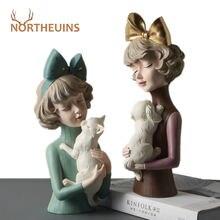 Статуэтка northeuins из смолы с бантом для девочек Современное