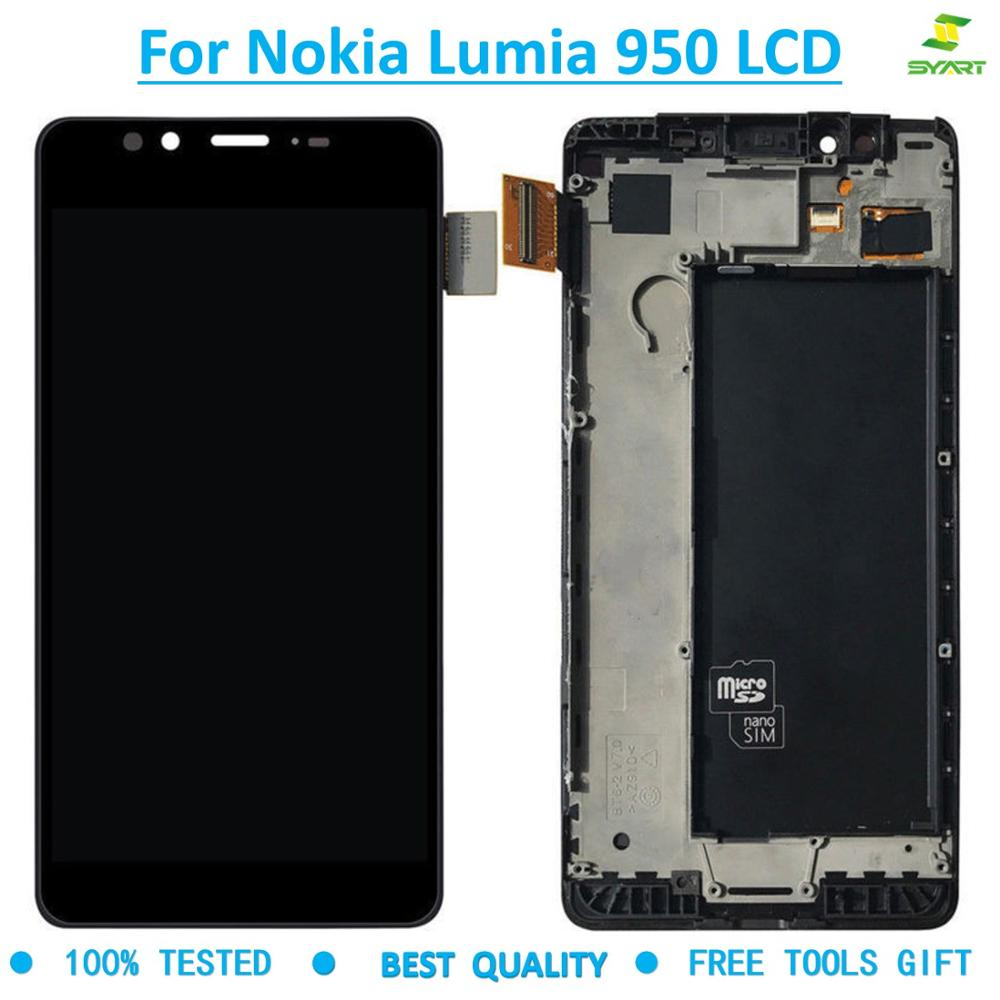2560x1440 For Microsoft Nokia <font><b>Lumia</b></font> <font><b>950</b></font> LCD Display Touch Screen Digitizer Assembly frame <font><b>Parts</b></font> Replacement for Nokia <font><b>950</b></font> lcd image