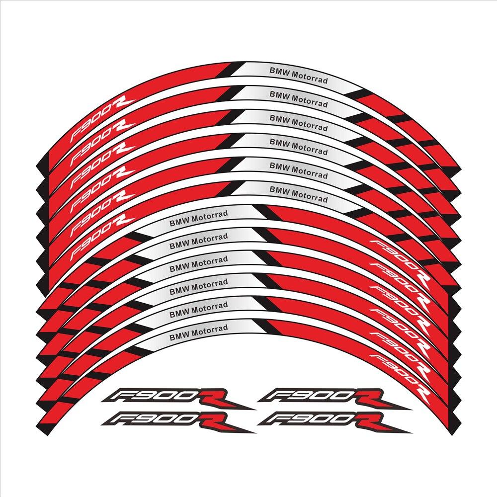 Новые 12 шт мотоциклетные наклейки на колеса в полоску мото светоотражающие декоративные защитные обода наклейки для BMW F900R f900 r