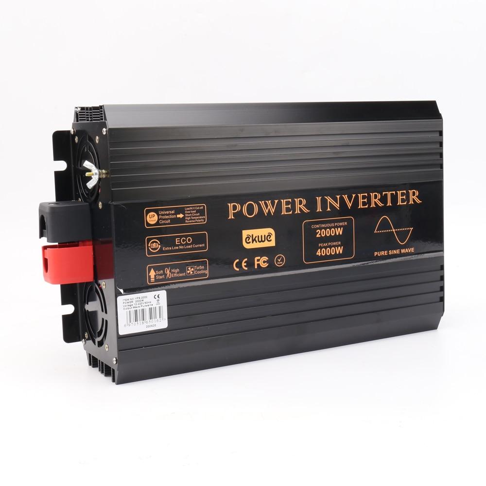 full 2000W peak 4000W true pure sine wave inverter 12v 230v power inverter pure sine wave 60hz stable quality converter 12 220