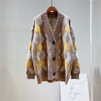 Oversize Patterened Cardigan Jacket 2