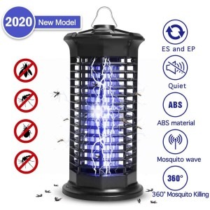 Upgrade Electric Mosquito Killer Trap Moth Fly Lamp Portable 4W UV Photocatalysis Mute Radiationless Lamp Bug Zapper Pest Light