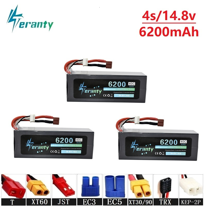 Upgrade 14.8v 6200maH 40C <font><b>Lipo</b></font> Batterry For RC Quodcopter Cars Boats Drone Spare Parts <font><b>4s</b></font> <font><b>6000mah</b></font> 14.8v Rechargeable Batteries image