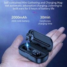 Baseus W01 TWS Bluetooth Earphone Wireless Headphone Bluetooth 5.0 Stereo Bass Wireless earphones With HD Microphone For Phone стоимость