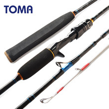 TOMA Fast Action Japan Sea Fishing Jigging Rod Casting 1.8m 1.98m 2.1m 2 section MH 50-180g Carbon Spinning Boat Fishing Rod