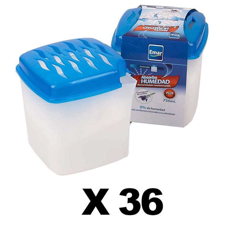 BOX 36 Units 7009-Absorbing Humidity 750 Ml. Capacity Open
