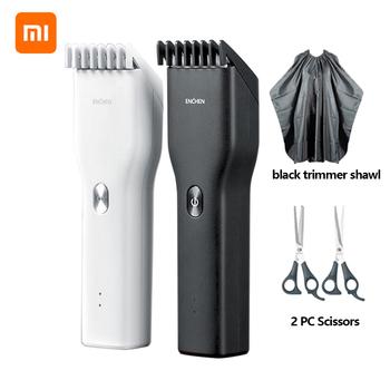 Xiaomi Enchen elektryczna maszynka do strzyżenia włosów USB ceramiczna maszynka do włosów szybkie ładowanie włosów mężczyzn trymer clipper świąteczne prezenty tanie i dobre opinie 16 4*4 3cm XM00011 xiaomi enchen trimmer White Black 1 5h 110-240V