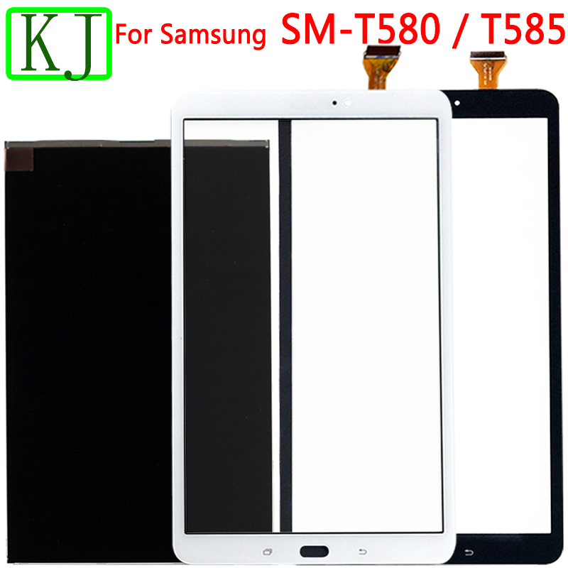 For Samsung Galaxy Tab A 10.1 T580 T585 LCD Display Touch Sensor Glass Digitizer Panel For T580 Touch Screen Tablet Panel