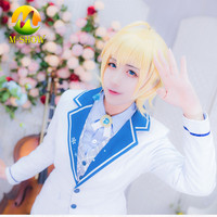 Kagamine Len Cosplay Costume Anime Vocaloid Cosplay Suit Kagamine Len Costume Uniform Halloween Costume for Boy Men Custom Made