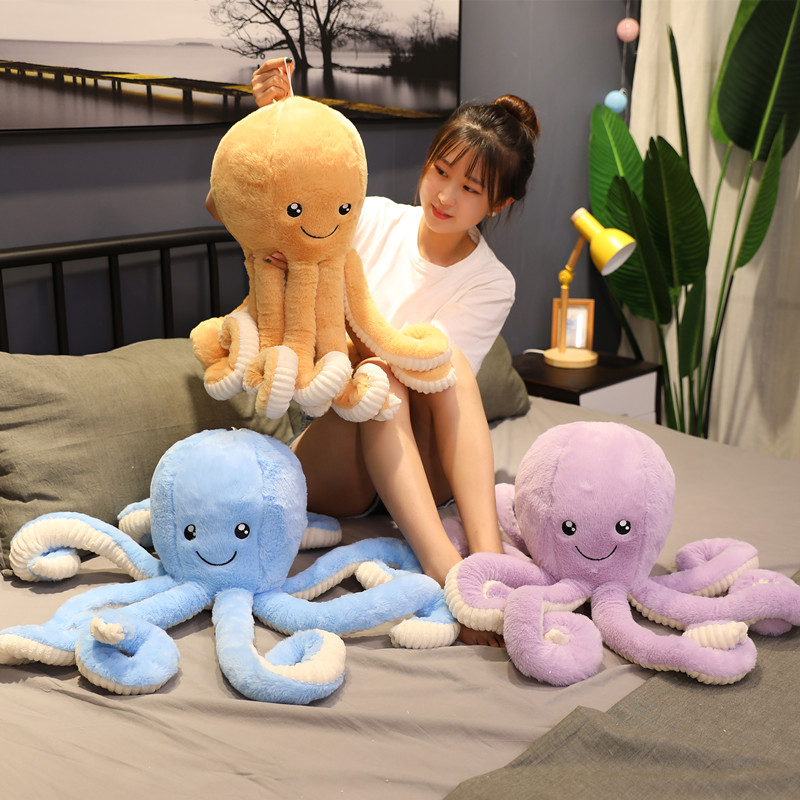 1pcs 18cm-80cm Lovely Simulation Octopus Pendant Plush Stuffed Toy Soft Animal Home Accessories Cute Animal Doll Children Gifts
