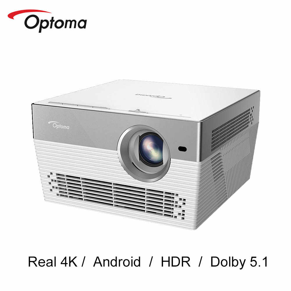 Optoma I5 + DLP Proyektor 4K 3840*2160 Real 4K LED TV Video Projector Android WIFI Bluetooth proyektor Home Theater UHL55 Upgrade