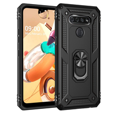 For LG k51 Case Tough Heavy Protective 360 Metal Rotating Ring Kickstand Holder недорого
