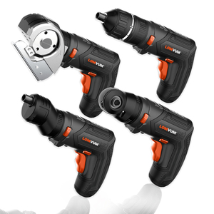Image 1 - LOMVUM Cordless Screwdriver Electric Drill Set 4V USB Rechargeable Cordless Drill 27pcs Bits Changeable Twistable Home DIY Tool