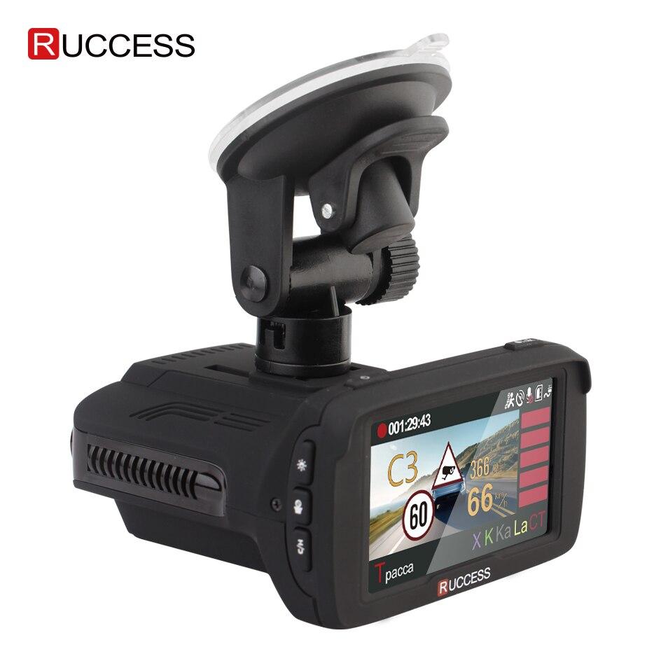 RUCCESS 2.7 Anti Car Radar Detector for Russia with GPS Police Radar Camera 170 Degree CAR DVR Full HD 1080P Video Recorder