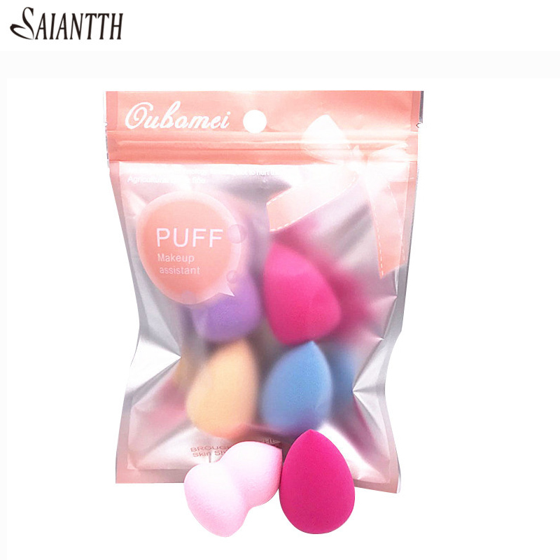 SAIANTTH Gourd Water Drop Puff Latex Makeup Sponge Cosmetic Tool Beauty Puff Gourd Cotton BB Cream Foundation Esponja 4pcs/Pack