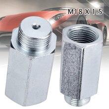 1 Uds de acero inoxidable M18x1.5 Sensor de oxígeno Lambda O2 extensor espaciador para Decat hidrógeno Lambda O2 extensor espaciador