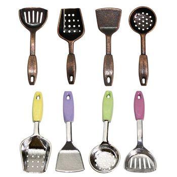 Juguetes para niños, 4 uds, cocina para casa de muñecas, pala en miniatura, utensilios de cocina, Kit de accesorios DIY 112, Mini pala para casa de muñecas, utensilios de cocina
