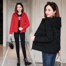 2019 Fashion Plus Size 3XL Down Jackets Women Winter Coat Hooded Short Parka Thicken Warm Cotton Padded Winter Jacket Women Coat все цены
