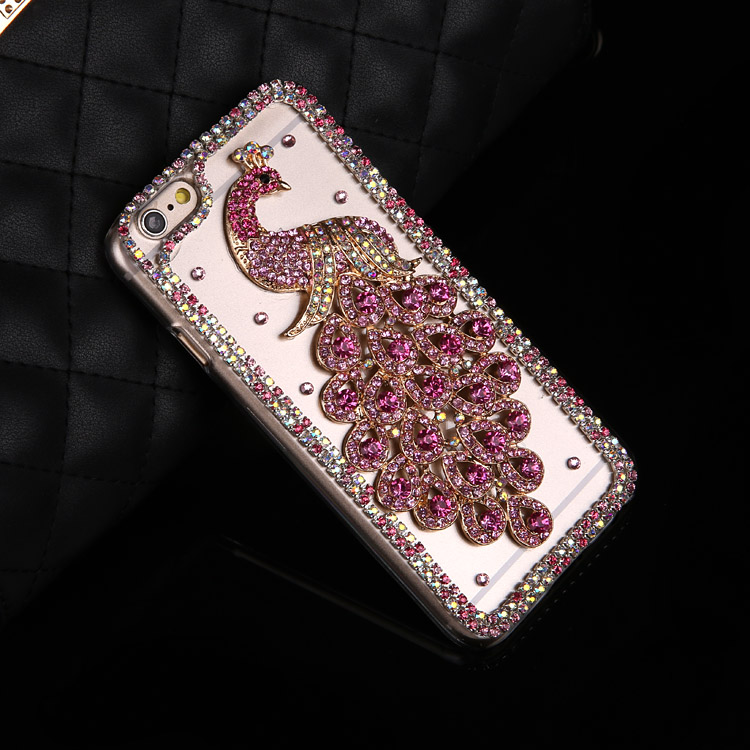 Luxus Bling Pfau Telefon jeweled Bling Fall Für redmi <font><b>note</b></font> 8 pro <font><b>5</b></font> pro <font><b>note</b></font> 7 pro redmi 6a 7a redmi 8 8a s2 <font><b>5</b></font> 6 7redmi <font><b>5</b></font> plus image